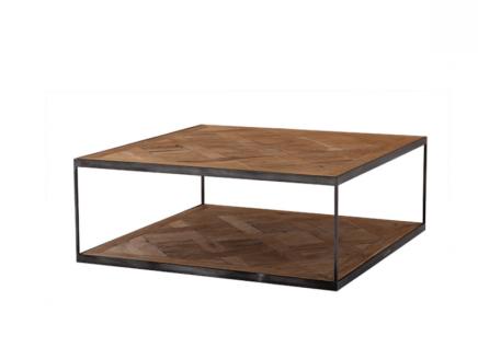 Casa Padrino Luxus Art Deco Designer Couchtisch Zink - Wohnzimmer Salon Tisch - Hotel Tisch Möbel