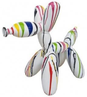 Casa Padrino Designer Deko Skulptur Ballon Hund Weiß / Mehrfarbig 62 x H. 57 cm - Dekorative Tierfigur - Wetterbeständige Dekofigur - Vorschau