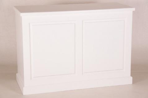 Casa Padrino Shabby Chic Landhaus Stil Theken Schrank Weiß B 140 H 99 cm Theke Ladentheke Ladeneinrichtung - Vorschau 1