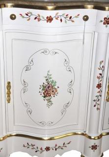 casa padrino luxus barock schrank mit spiegelkonsole weiss handbemalt mit marmorplatte luxus mobel konsole mit