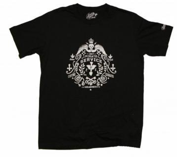 Pirate Service Skateboard T-Shirt Hearses Black/White