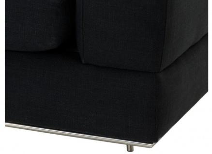 Casa Padrino Designer Sofa Schwarz Rechtsseitig 231 x 101 x H. 85 cm - Luxus Wohnzimmer Möbel - Vorschau 3