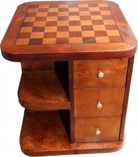 Casa Padrino Art Deco Spieltisch Schach / Dame Mahagoni Mod2 L 50 x B 50 x H 55 cm - Möbel Antik Stil Barock