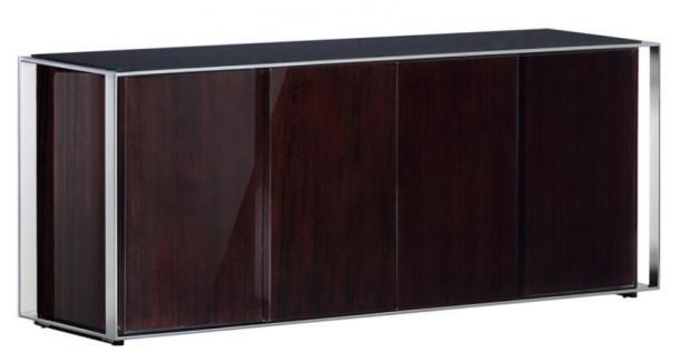 Casa Padrino Designer Schrank 200 x 52 x H. 80, 5 cm - Luxus Wohnzimmerschrank