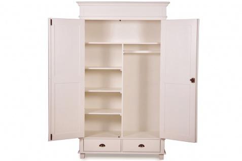 Casa Padrino Landhausstil Schrank Antik Weiß 120 x 60 x H. 250 cm - Zweitüriger Schrank mit 2 Schubladen im Landhausstil - Vorschau 2