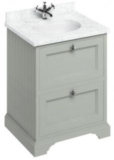 Casa Padrino Waschschrank / Waschtisch mit Marmorplatte und 2 Schubladen - Luxus Edition - Vorschau 3