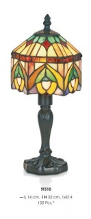 Handgefertigte Tiffany Tischleuchte Höhe 32 cm, Länge 14 cm - Leuchte Lampe