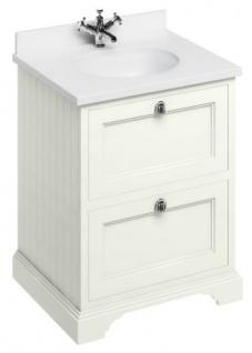 Casa Padrino Waschschrank / Waschtisch mit Marmorplatte und 2 Schubladen 67 x 55 x H.93 cm - Vorschau 2