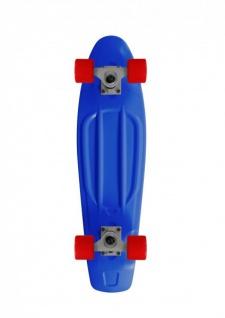 RAM Oldschool Skateboard Plastic Cruiser Retro 70s Blau / Rot - 27 inch - Plastik Skateboard mit Koston Kugellagern