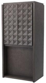 Casa Padrino Luxus Weinschrank Mokkafarben / Bronze 81, 5 x 56 x H. 171 cm - Massivholz Barschrank mit 2 Türen und 3D Effekt in den Fronten - Barmöbel - Luxus Qualität