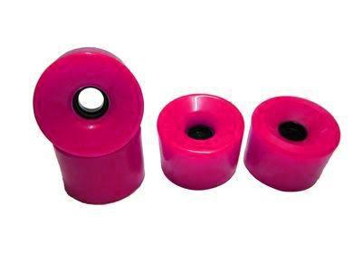Koston Blank Longboard Wheels 76mm / 78a Pink - Longboard Cruiser Wheel Set (4 Rollen)