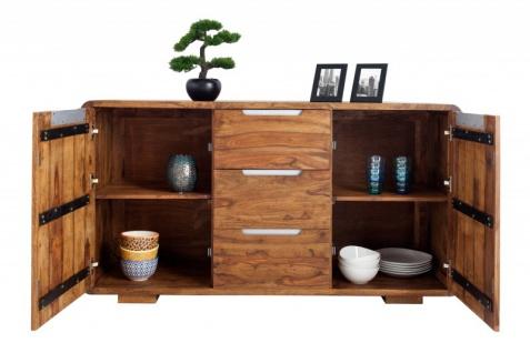 Casa Padrino Fernsehkommode 145 cm - Fernsehschrank - Sideboard - Handgefertigt aus Massivholz! - Vorschau 2