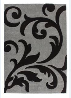 Casa Padrino Design Teppich Silber Schwarz - Designer Teppich