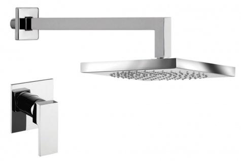 Luxus Duschgarnitur Unterputz-Duscheneinhebelmischer mit Kopfbrause Silber - Luxus Badezimmer Duschset