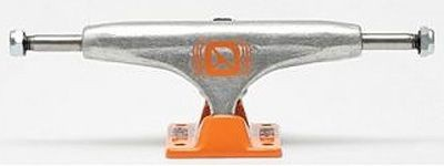 Crail Skateboard Achsen Set 129 LOW LIGHT silber/orange (2 Achsen)