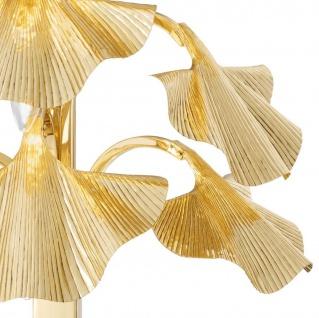 Casa Padrino Luxus Tischleuchte Messingfarben / Schwarz 55 x 38 x H. 88 cm - Designer Lampe mit Granitsockel - Vorschau 4