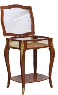 Casa Padrino Barock Beistelltisch Mahagoni Intarsien / Gold H78 x 62 cm - Ludwig XVI Antik Stil Tisch - Möbel - Vorschau 2