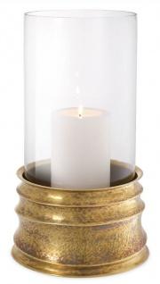 Casa Padrino Luxus Kerzenleuchter Vintage Messingfarben Ø 21 x H. 40, 5 cm - Hotel & Restaurant Accessoires - Luxus Qualität