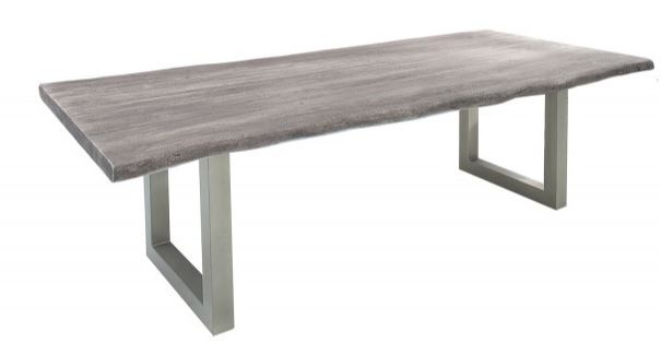 Casa Padrino Designer Massivholz Esstisch Grau   Akazie   200 X 100 X H.77  Cm   Aus Massivem Akazienholz