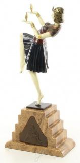 Casa Padrino Luxus Bronzefigur Ägytische Tänzerin Mehrfarbig / Beige 17 x 9 x H. 37 cm - Deko Bronze Skulptur mit Sockel - Vorschau 2