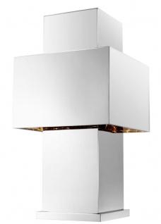 Casa Padrino Luxus Tischleuchte Silber 36, 5 x 36, 5 x H. 72 cm - Designer Tischlampe - Vorschau 3