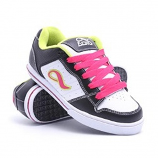 Adio Skateboard Schuhe Betsey Black/White/Lime Sneakers Shoes