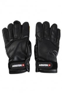 Koston Slide Handschuhe Longboard Gloves Schwarz PU - Skateboard Handschuhe - Slidegloves Slider Glove Set