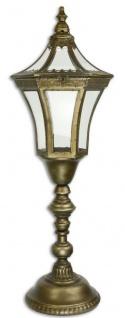 Casa Padrino Barock Zinn Laterne Antik Messingfarben 31, 7 x 28, 4 x H. 93, 5 cm - Deko Accessoires im Barockstil
