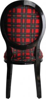 Casa Padrino Barock Luxus Esszimmer Stuhl ohne Armlehnen Schottland Karo / Schwarz Woman - Designer Stuhl - Limited Edition - Vorschau 3