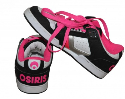 Osiris Skateboard Schuhe Harlem Girls Black/ White/ Pink/ Silver sneakers Shoes - Vorschau 2