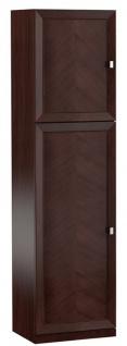 Casa Padrino Luxus Kleiderschrank Dunkelbraun / Silber 70, 4 x 44, 2 x H. 225, 6 cm - Schlafzimmerschrank mit 2 Türen - Schlafzimmermöbel