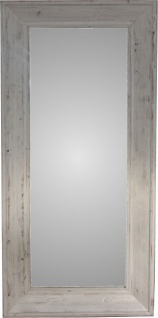 Casa Padrino Shabby Chic Landhaus Stil Wandspiegel 180 x 82 cm - Antik Stil Vintage Look