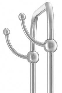 Casa Padrino Luxus Handtuchhalter Silber / Weiß 50 x 22 x H. 159 cm - Luxus Badezimmer Accessoires - Vorschau 5