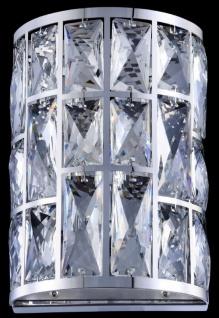 Casa Padrino Luxus Wandleuchte Silber 14, 7 x 10 x H. 21, 2 cm - Elegante Wandlampe mit Kristallglas - Vorschau 5