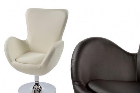 Casa Padrino Designer Sessel Creme - Lounge Sessel - Büro Sessel - Vorschau 5
