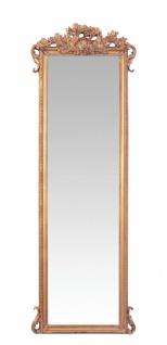 Casa Padrino Barock Wandspiegel Gold B 67.3 x H 198.5 cm - Edel & Prunkvoll