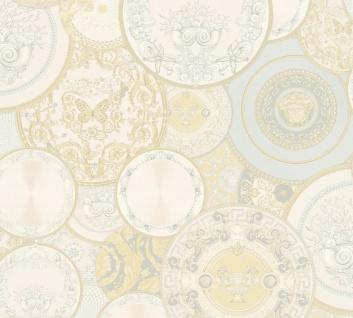 Versace Designer Barock Vliestapete 349012 Les Etoiles de la Mer 2 Beige / Creme / Weiß - Design Tapete - Hochwertige Qualität
