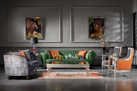Casa Padrino Luxus Barock Sofa Lila / Braun / Silber - Handgefertigtes Wohnzimmer Sofa - Barock Wohnzimmer Möbel - Vorschau 5