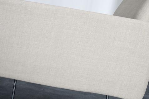 Casa Padrino Designer Stuhl mit Armlehnen Creme 55cm x 80cm x 60cm - Büromöbel - Vorschau 5