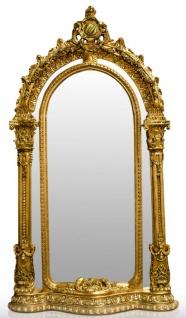 Pompöös by Casa Padrino Barock Standspiegel Gold 134 x H. 257 cm - Handgeschnitzt - Harald Glööckler Spiegel - Vorschau 1