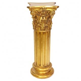 Casa Padrino Barock Säulen Set Gold Durchmesser 50 cm (2 Stk)