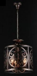 Casa Padrino Barock Decken Kronleuchter Braun 43 x H 36 cm Antik Stil - Möbel Lüster Leuchter Deckenleuchte Hängelampe
