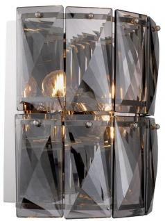 Casa Padrino Luxus Kristallglas Wandleuchte Grau / Silber 31 x 18 x H. 31 cm - Luxus Kollektion