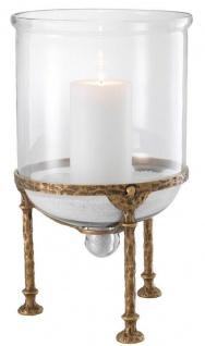 Casa Padrino Luxus Kerzenleuchter Vintage Messing Ø 28, 5 x H. 50 cm - Luxus Accessoires
