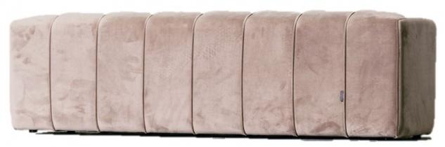 Casa Padrino Luxus Samt Bank Rosa 150 x 45 x H. 43 cm - Gepolsterte Massivholz Sitzbank mit edlem Samtstoff - Luxus Kollektion