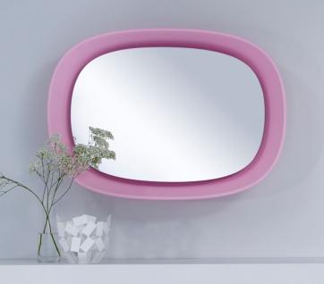 Casa Padrino Luxus Designer Spiegel Rosa 70 x H. 97 cm - Designer Wandspiegel mit Licht