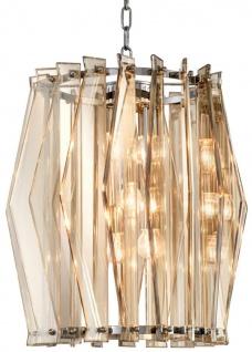 Casa Padrino Luxus Kronleuchter mit gold getöntem Glas Ø 44 x H. 50 cm - Wohnzimmermöbel
