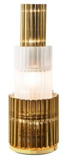 Casa Padrino Designer Tischleuchte Gold 33 x H. 96 cm - Luxus Tischlampe