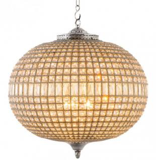 Casa Padrino Luxus Kronleuchter - Luxus Hängeleuchte Nickel Durchmesser 70 x H 70 cm