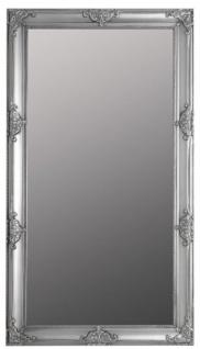 Casa Padrino Barock Wandspiegel Silber 72 x H. 132 cm - Handgefertigter Barock Spiegel mit Holzrahmen und wunderschönen Verzierungen